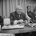 Einde bezoek bondskanselier dr Ludwig Erhard en gaf persconferentie in het Haag, Bestanddeelnr 916-1325.jpg