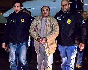 "Joaquín ""El Chapo"" Guzmán - El Chapo in U.S. custody, 19 January 2017."