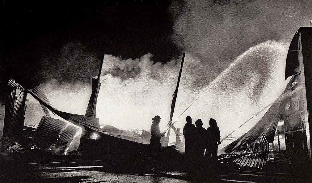 Eldsvåda i trälager - Malmö 1987.jpg