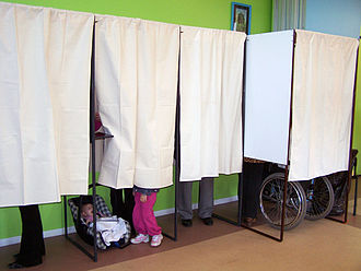 Elections in France - Isolation booth