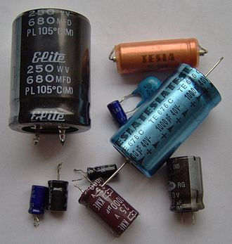 Electric potential energy - The electric potential energy stored in a capacitor is UE=½ CV2