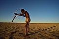 Elia Fester, Kalahari Khomani San Bushman, Boesmansrus camp, Northern Cape, South Africa (20545062321).jpg