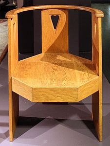 Eliel saarinen, sedia con braccioli, helsinki 1907-08 ca