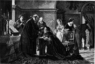 Communion under both kinds - Elisabeth of Brandenburg secretly takes communion in both kinds.