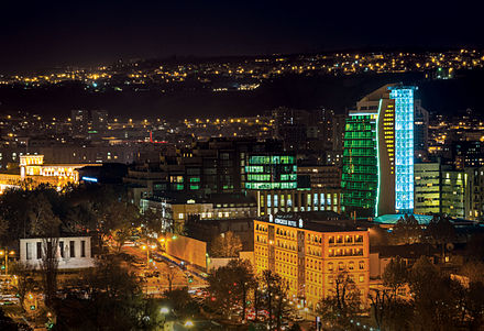 The redeveloped Yerevan downtown is the commercial and business centre of the city