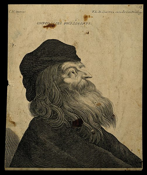 File:Empedocles. Line engraving after (C. V.). Wellcome V0001768.jpg