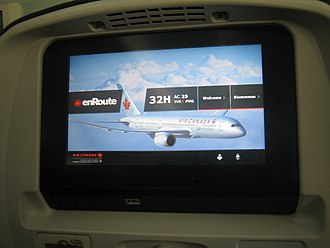 Video on demand - An example of an In-flight entertainment system using VOD/AVOD technology aboard an Air Canada Boeing 787 Dreamliner