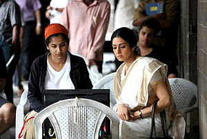 English Vinglish - Sridevi (right) and Gauri Shinde pictured during the shoot