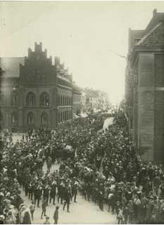 Landskrona - Enoch Thulin's funeral, May 1919.
