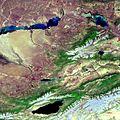 Envisat image of Kazakhstan and Kyrgyzstan ESA203758.jpg
