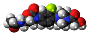 Eperezolid - Image: Eperezolid 3D spacefill