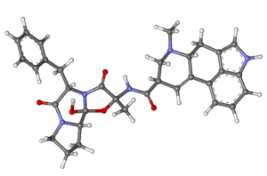 Ergotamine - Image: Ergotamine ball and stick