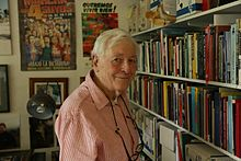 Eric Avebury in his office at his home in South London in 2014