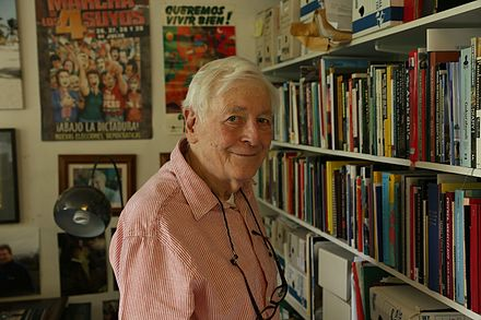 Eric Avebury in his office at his home in South London in 2014 Eric Avebury at home.jpg