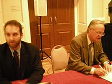 Eric Roston and James Gustave Speth (2896590571).jpg