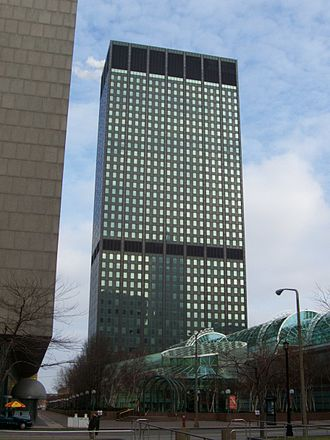 Erieview Tower - The Erieview Tower, with the Galleria visible in the foreground