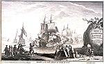 Escadre à la voile saluant en virant de bord. Dedie au ministre de la marine entre 1749 et 1754.jpg