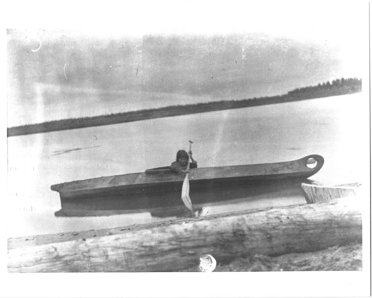 File:Eskimo kayak and boy.jpg