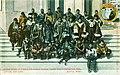 Eskimos posed on steps at Alaska-Yukon-Pacific Exposition, Seattle, Washington, 1909 (AYP 1326).jpg