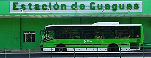 TITSA - The temporarily closed (2011) bus station of Puerto de la Cruz