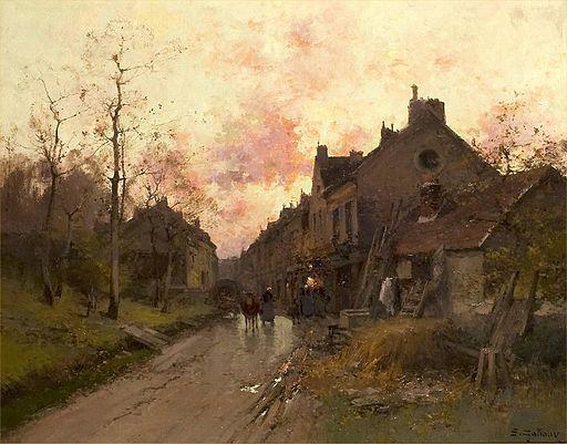 Eugène Galien-Laloue - Soirée en Normandie