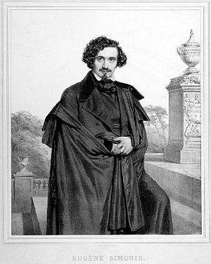 Eugène Simonis - Eugène Simonis, lithograph by Charles Baugniet published in Les Artistes Contemporains (1836)