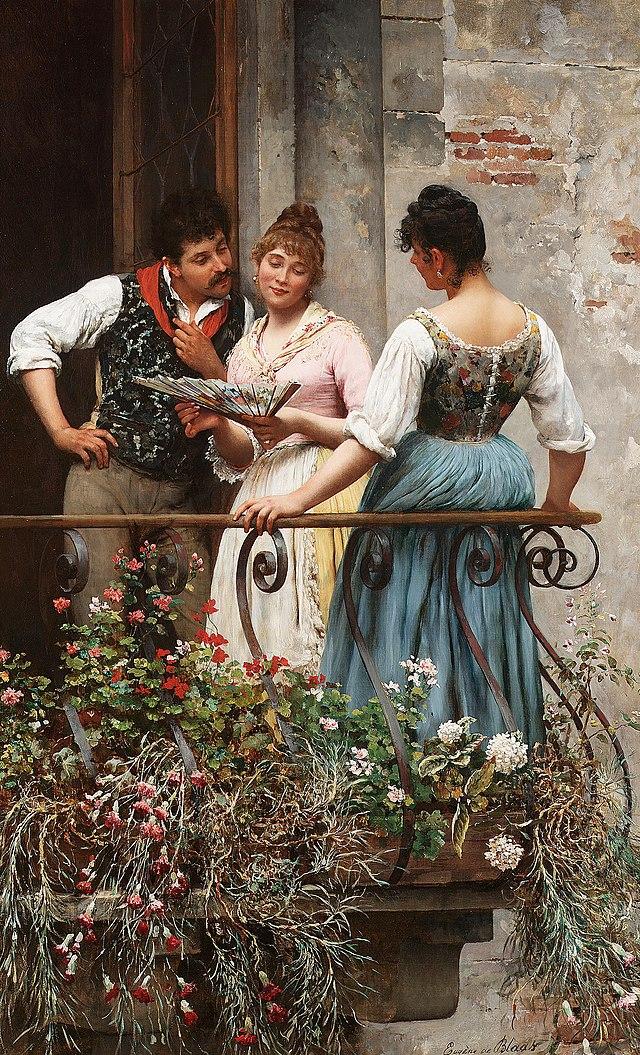 Eugne de Blaas A favourite fan 1889.jpg