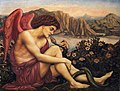 Evelyn de Morgan - The Angel with the Serpent, 1870-1875.jpg