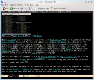 Eww (web browser) - Image: Eww GNU Emacs 24.4