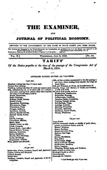 File:Examiner, Journal of Political Economy, v2n25.djvu