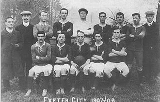 Exeter City F.C. - A team photo of Exeter City in 1907–08