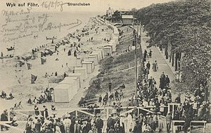 Föhr - Beach life in Wyk in 1907