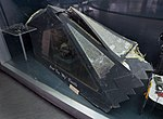 F-117 Canopy (shot down over Serbia 1999, Museum of Aviation, Belgrade).jpg