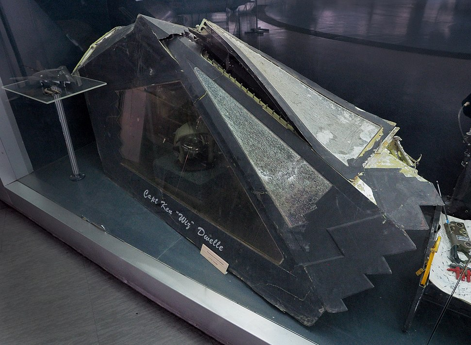 F-117 Canopy (shot down over Serbia 1999, Museum of Aviation, Belgrade)