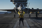 F-35C Joint Strike Fighter conducts its first launch from an aircraft carrier 141104-N-IP743-213.jpg