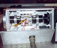 A potassium Faraday filter designed, built and photographed by Jonas Hedin for making daytime LIDAR measurements at Arecibo Observatory.