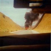 FAPLA car burning