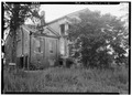 FRONT (SOUTH) AND WEST SIDE - Saunders-Goode-Hall House, State Highway 101, Town Creek, Lawrence County, AL HABS ALA,40-TOWC.V,1-2.tif