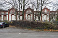 Factory building facade Werner Ehlers bedspring down factory Leinaustrasse Linden-Nord Hannover Germany.jpg