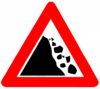 Falling rocks (Israel road sign).png