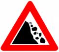 Falling rocks (Israel road sign).png