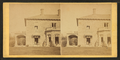Family posing in front and in the porch of Stone House, from Robert N. Dennis collection of stereoscopic views.png