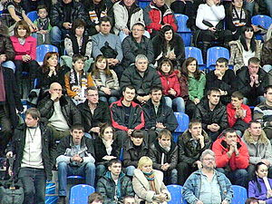 Fans at BC NN vs Spartak SPb match 2011-03-19 zoomed.JPG