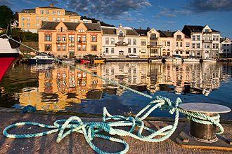 Farsund (town) - Image: Farsund daybreak