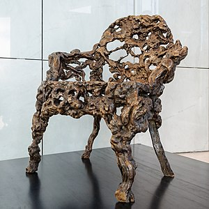Root carving - Chinese armchair made from roots. Qing dynasty, Qianlong era, 18th century