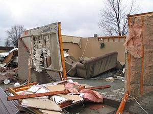 Tornadoes of 2011 - A home destroyed by an EF2 tornado in Dubois County, Indiana