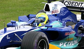 Felipe Massa - Massa driving for Sauber at the 2005 British Grand Prix