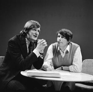 Van Kooten en De Bie - Wim de Bie (left) and Kees van Kooten in the TV show Fenklup in 1968
