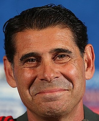 Fernando Hierro - Hierro as Spain manager at the 2018 World Cup