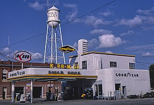 Kerr-McGee - Kerr-McGee Service Station  in Pauls Valley, Oklahoma, 1982